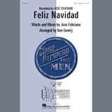 Download Jose Feliciano Feliz Navidad (arr. Tom Gentry, David Briner) Sheet Music arranged for TTBB Choir - printable PDF music score including 6 page(s)