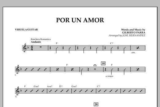 Jose Hernandez Por Un Amor - Vihuela/Guitar sheet music notes and chords