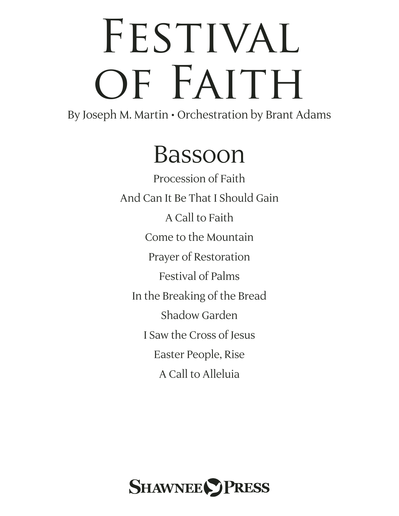 Joseph M. Martin Festival of Faith - Bassoon sheet music preview music notes and score for Choir Instrumental Pak including 22 page(s)