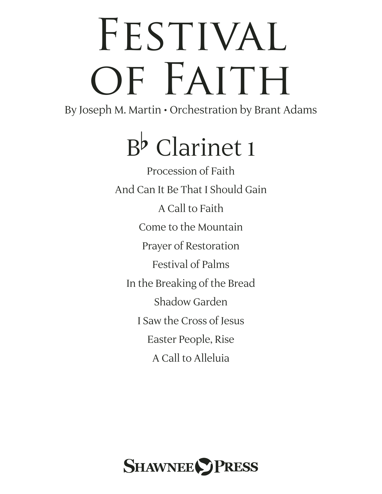 Joseph M. Martin Festival of Faith - Bb Clarinet 1 sheet music preview music notes and score for Choir Instrumental Pak including 23 page(s)