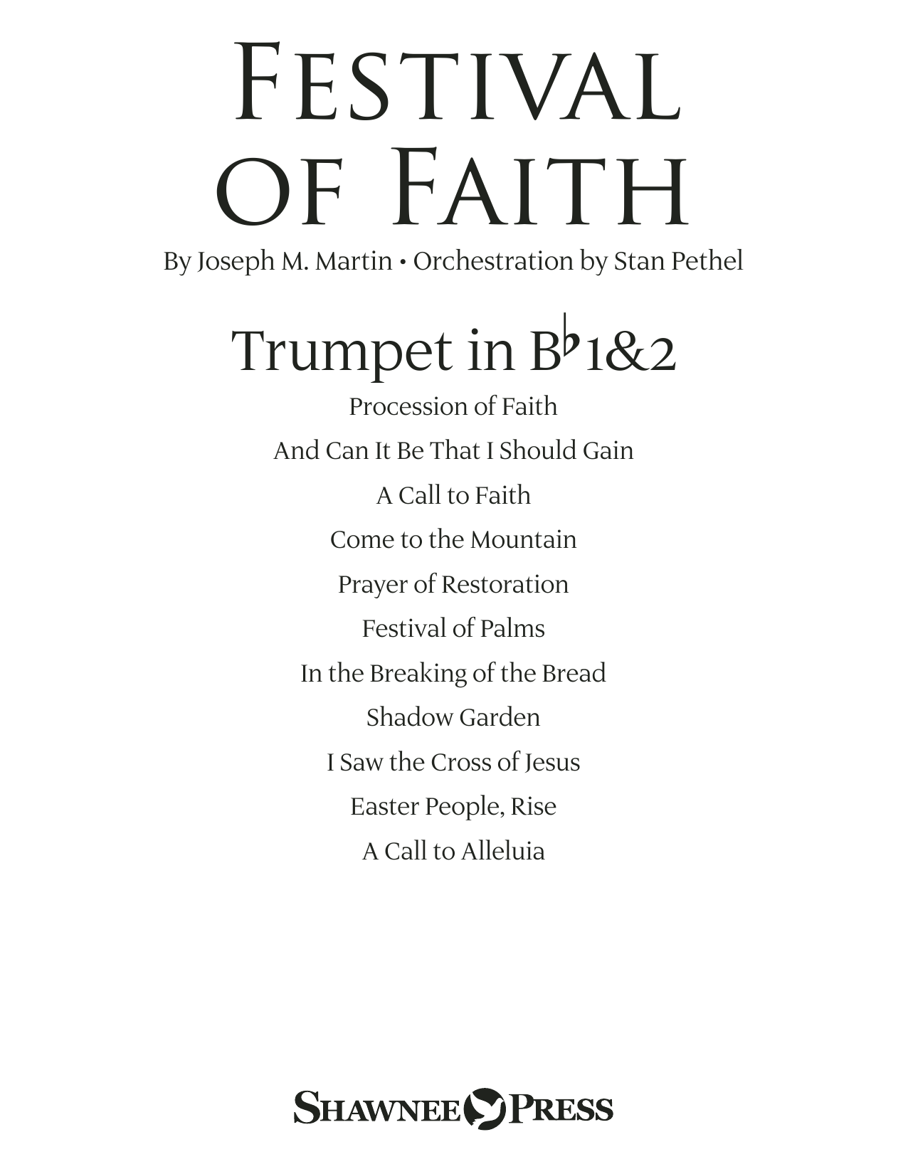 Joseph M. Martin Festival of Faith - Bb Trumpet 1,2 sheet music preview music notes and score for Choir Instrumental Pak including 21 page(s)