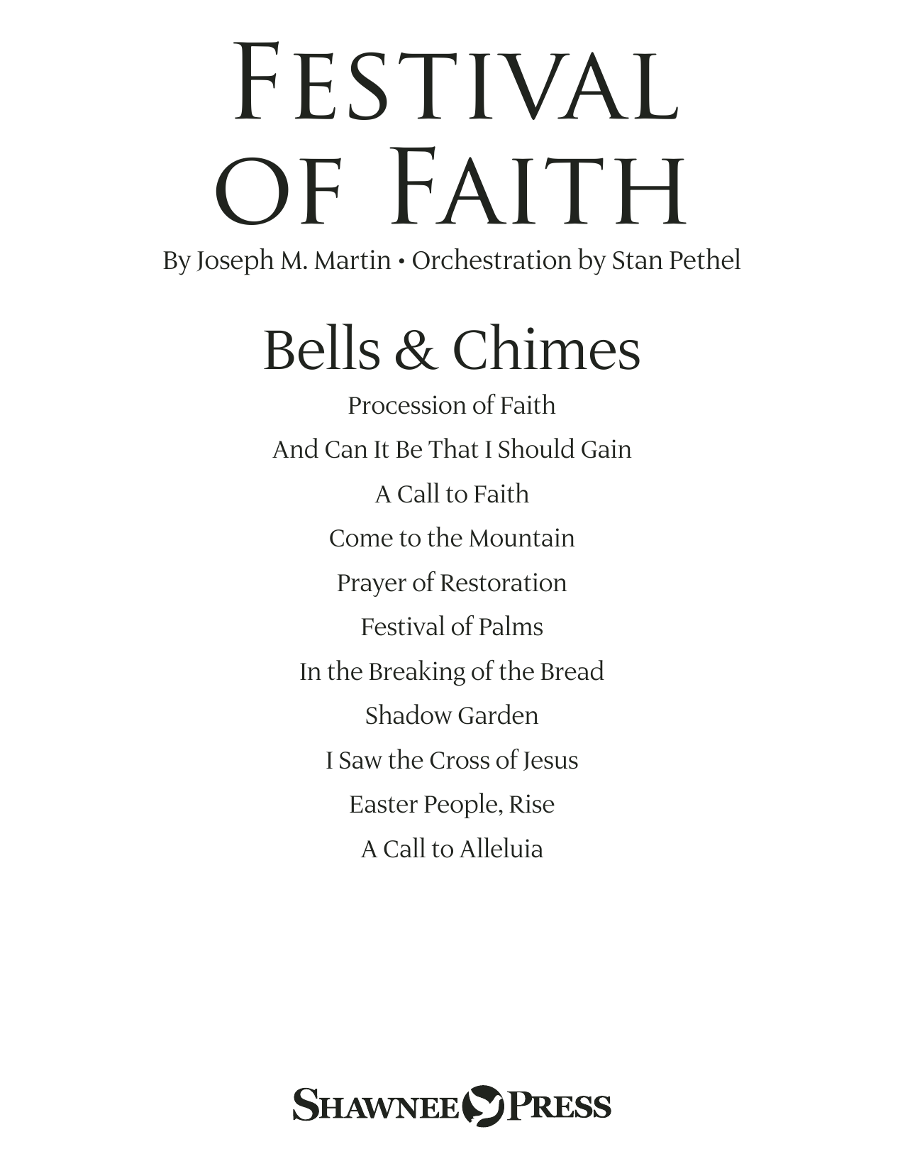 Joseph M. Martin Festival of Faith - Bells/Chimes sheet music preview music notes and score for Choir Instrumental Pak including 17 page(s)