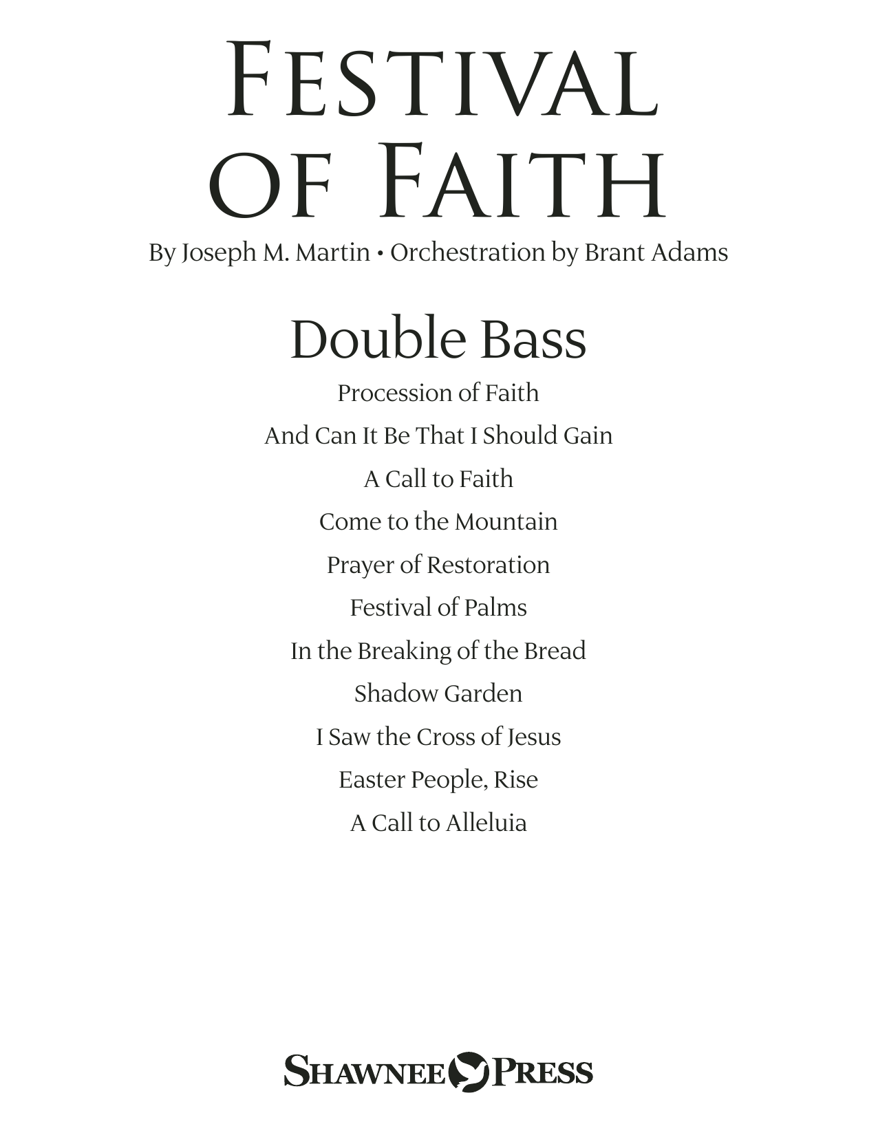 Joseph M. Martin Festival of Faith - Double Bass sheet music preview music notes and score for Choir Instrumental Pak including 23 page(s)