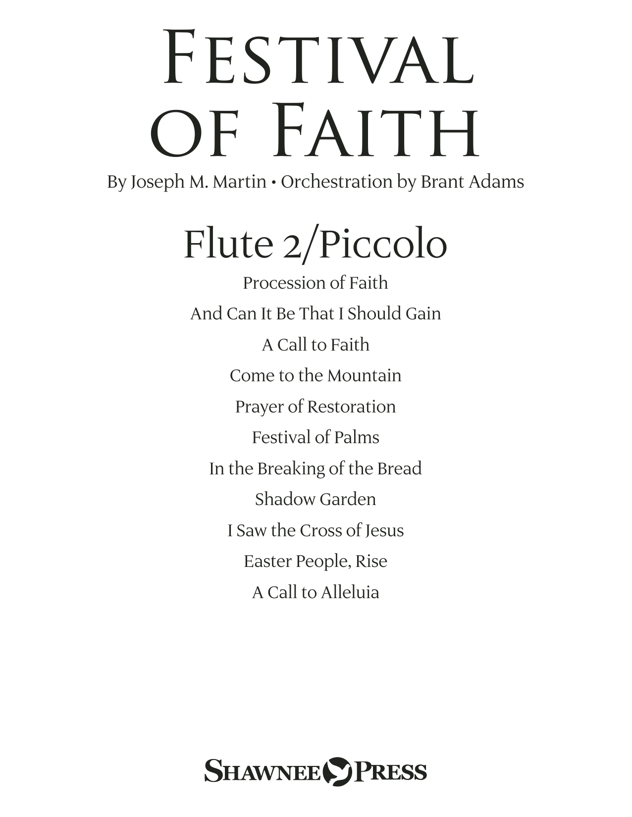 Joseph M. Martin Festival of Faith - Flute 2 (Piccolo) sheet music preview music notes and score for Choir Instrumental Pak including 22 page(s)