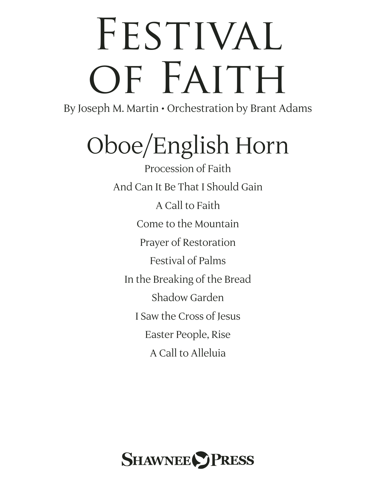Joseph M. Martin Festival of Faith - Oboe/English Horn sheet music preview music notes and score for Choir Instrumental Pak including 20 page(s)