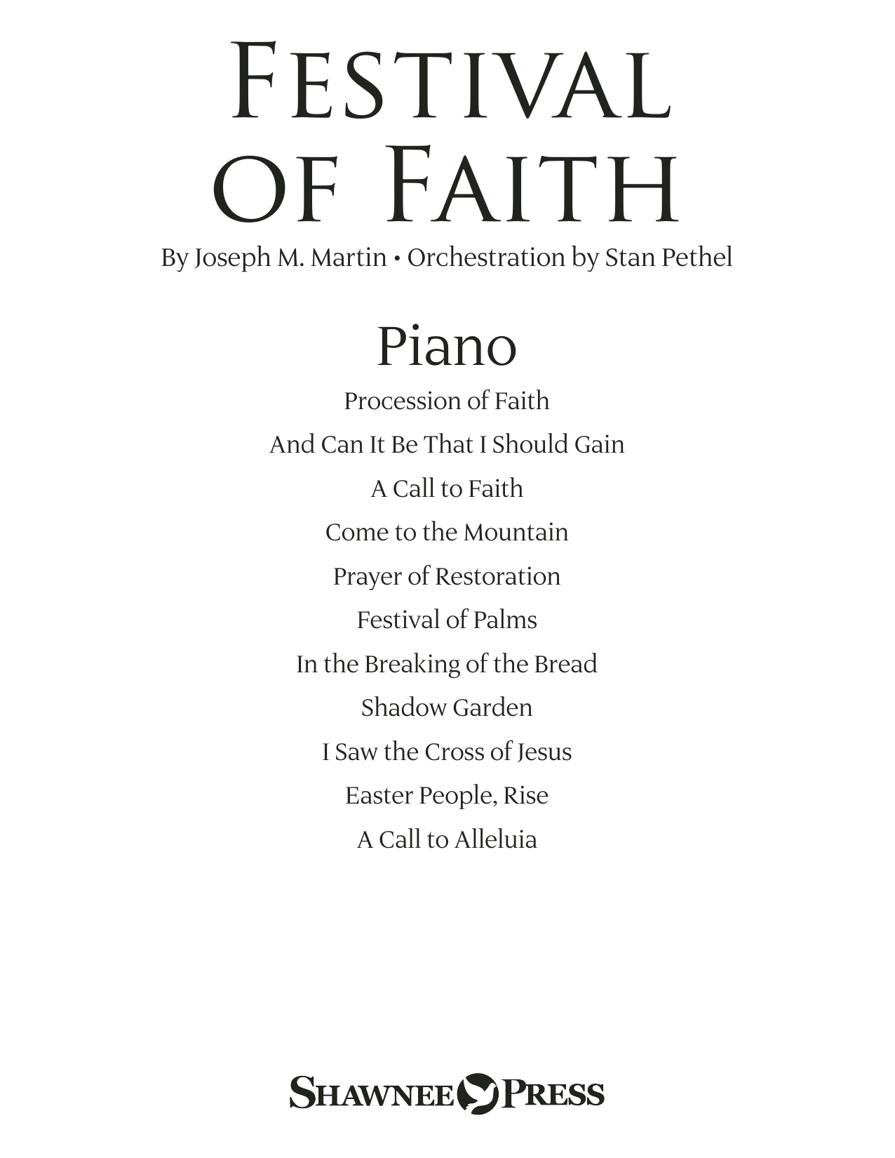 Joseph M. Martin Festival of Faith - Piano sheet music preview music notes and score for Choir Instrumental Pak including 46 page(s)
