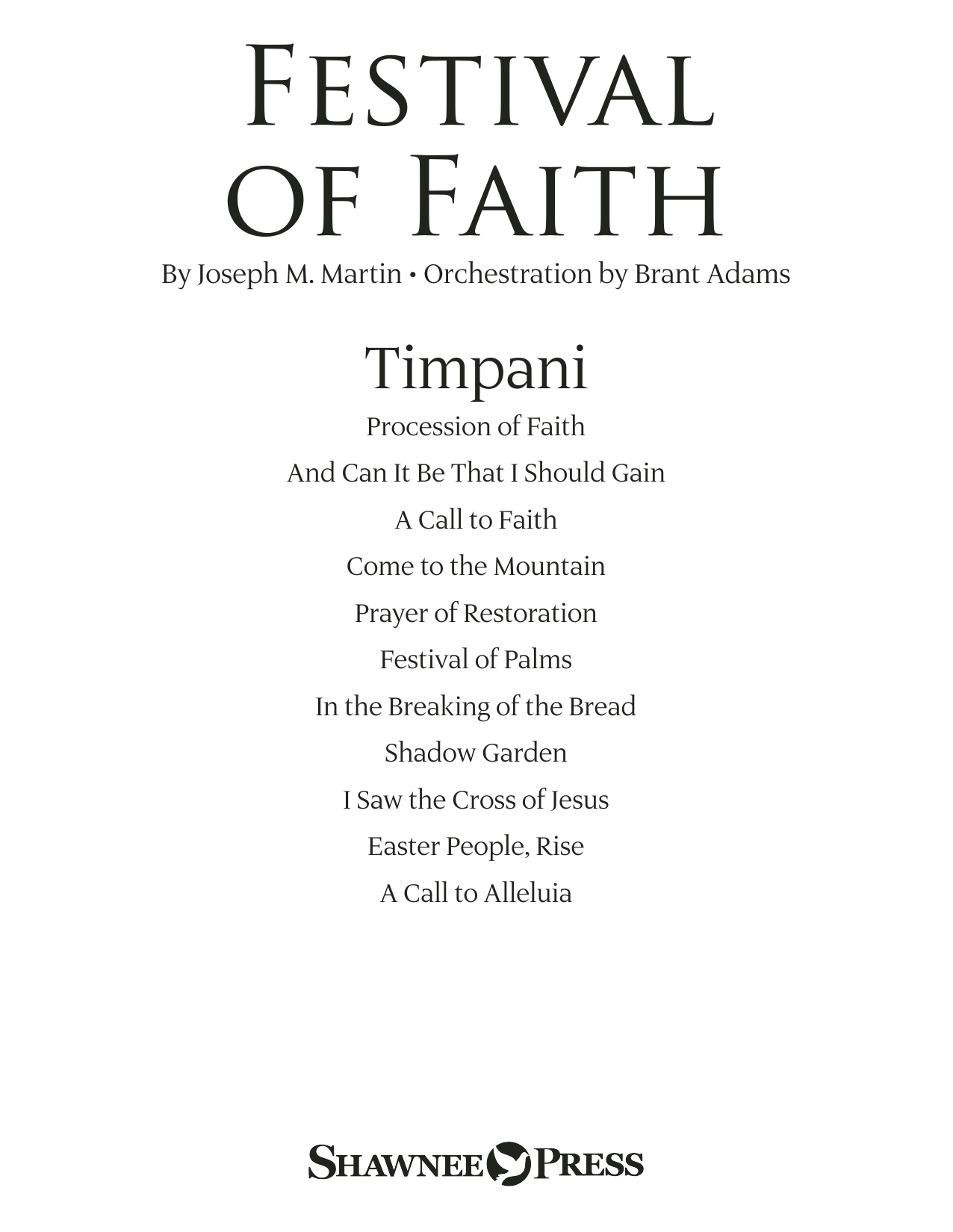 Joseph M. Martin Festival of Faith - Timpani sheet music preview music notes and score for Choir Instrumental Pak including 15 page(s)