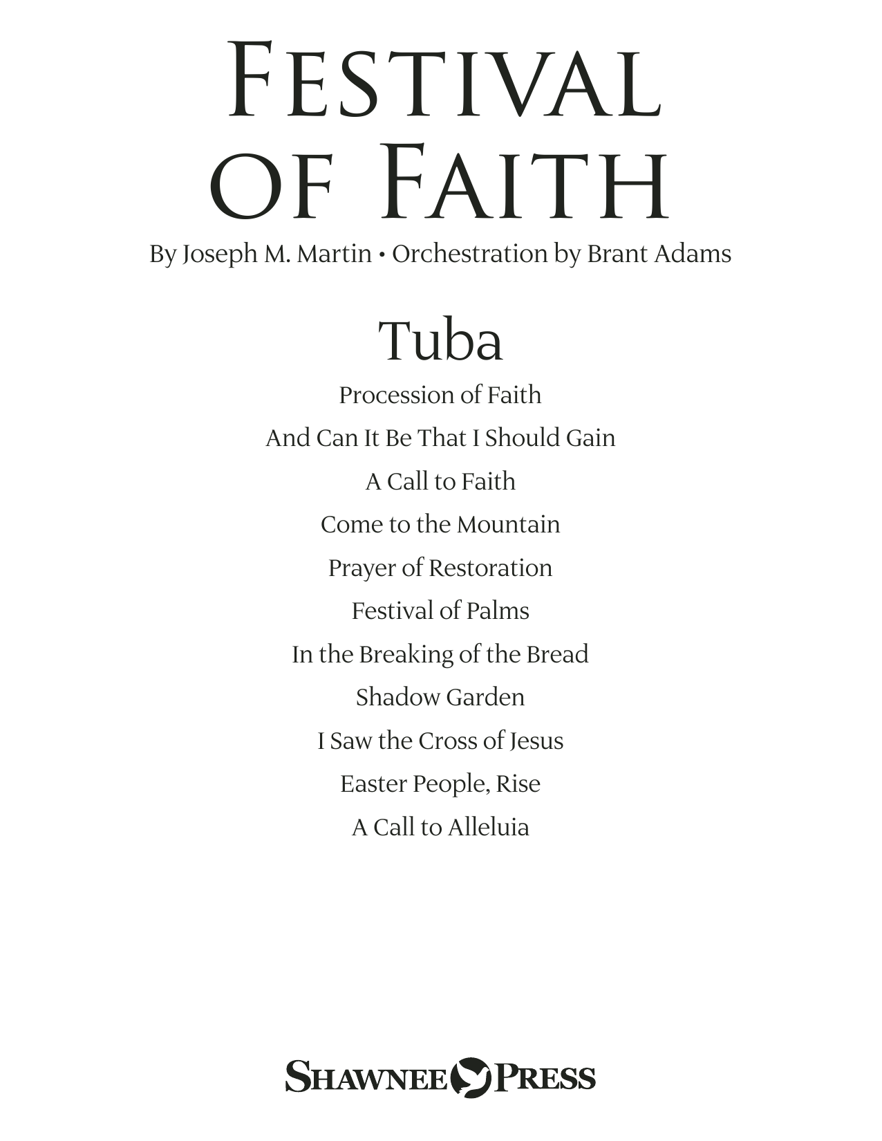 Joseph M. Martin Festival of Faith - Tuba sheet music preview music notes and score for Choir Instrumental Pak including 14 page(s)