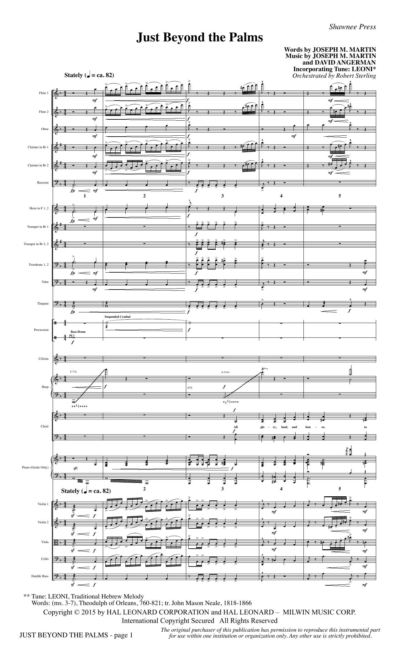Joseph M. Martin Just Beyond the Palms - Full Score sheet music preview music notes and score for Choir Instrumental Pak including 14 page(s)