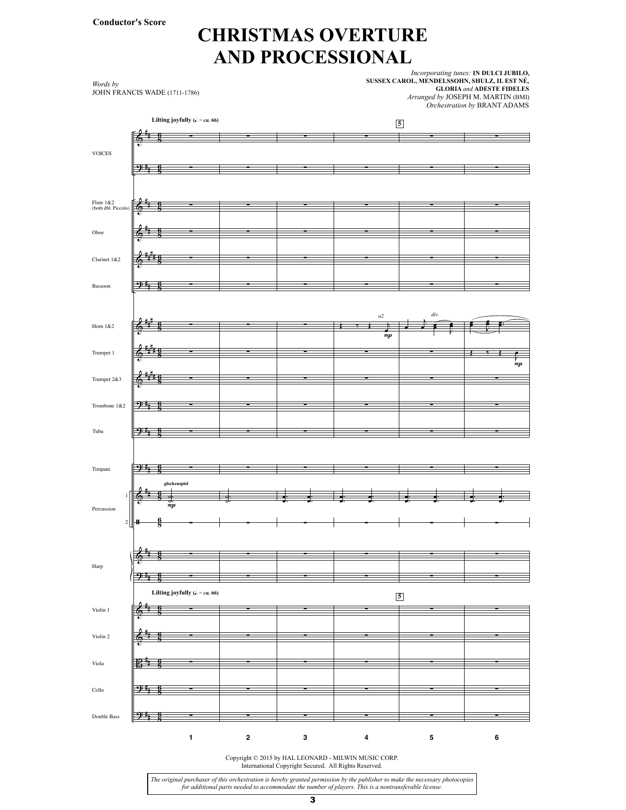 Joseph M. Martin Let There Be Christmas Orchestration - Score sheet music preview music notes and score for Choir Instrumental Pak including 176 page(s)