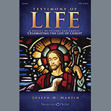 Download or print Testimony of Life - Violin 2 Sheet Music Notes by Joseph M. Martin for Choir Instrumental Pak