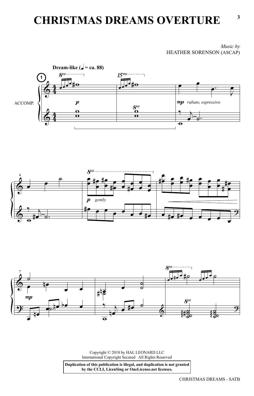 Joseph M. Martin and Heather Sorenson Christmas Dreams (A Cantata) sheet music preview music notes and score for SATB Choir including 116 page(s)