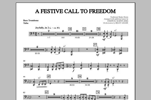 Joseph Martin A Festive Call to Freedom - Bass Trombone/Tuba sheet music notes and chords