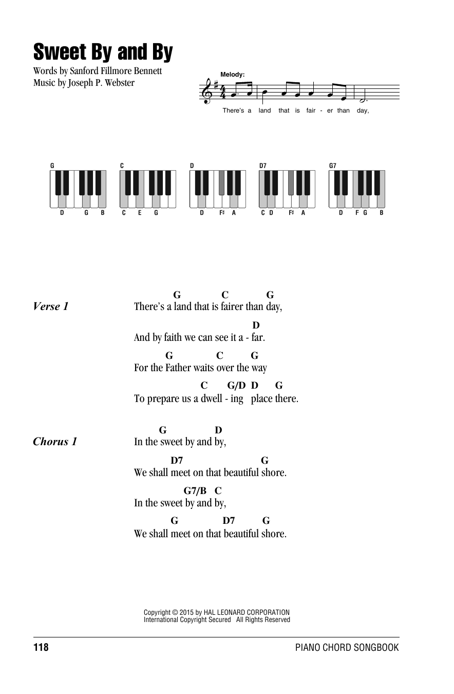 Joseph P. Webster Sweet By And By sheet music preview music notes and score for Super Easy Piano including 1 page(s)