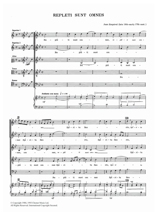 Download Juan Esquivel 'Repleti Sunt Omnes' Digital Sheet Music Notes & Chords and start playing in minutes