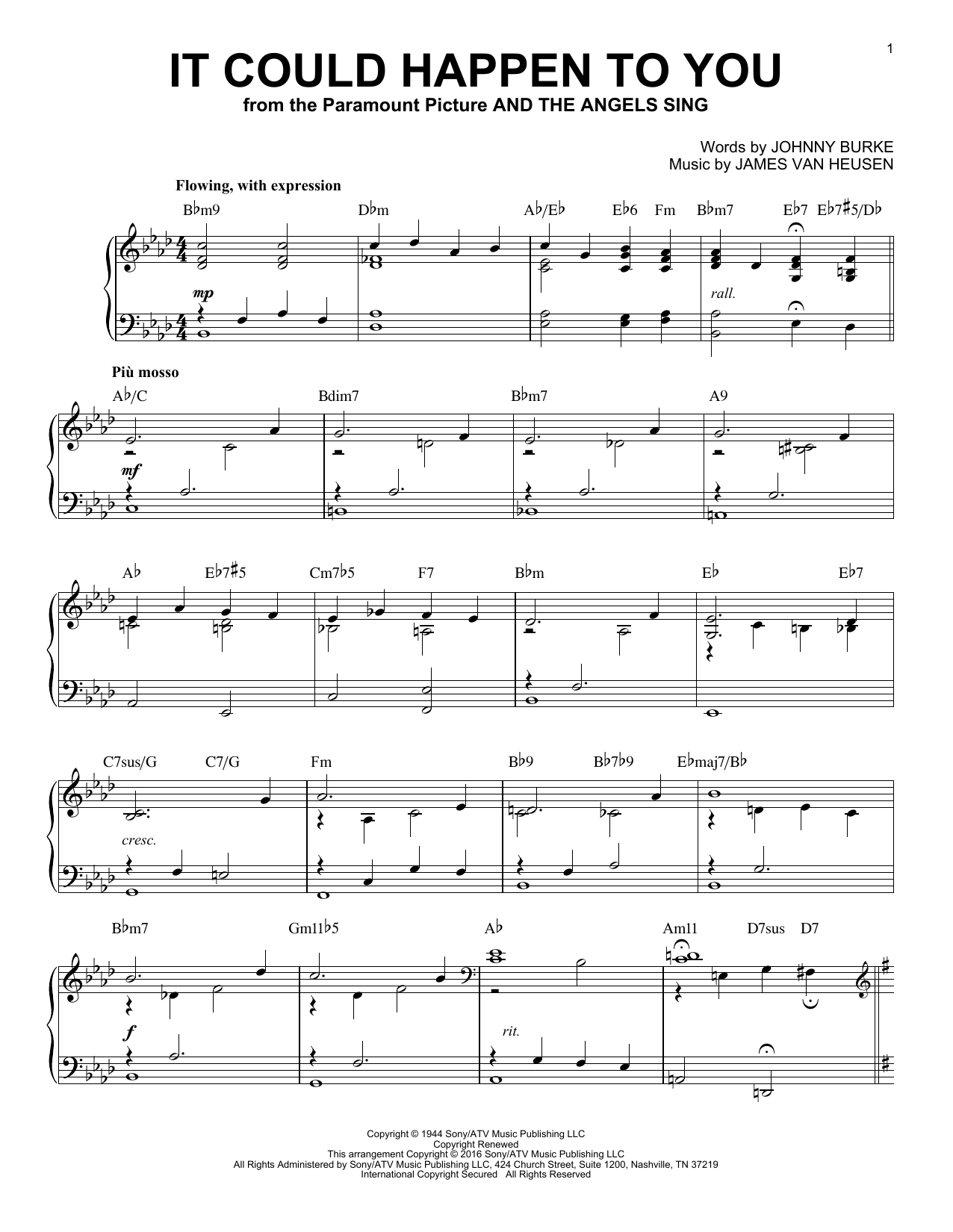 Download June Christy 'It Could Happen To You' Digital Sheet Music Notes & Chords and start playing in minutes