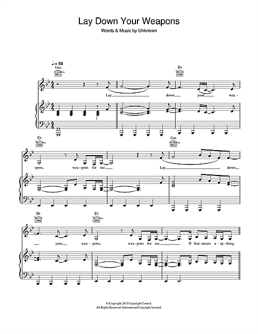 Download K Koke 'Lay Down Your Weapons (feat. Rita Ora)' Digital Sheet Music Notes & Chords and start playing in minutes