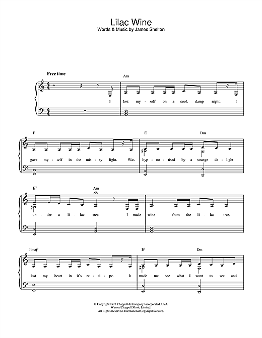 Download Katie Melua 'Lilac Wine' Digital Sheet Music Notes & Chords and start playing in minutes
