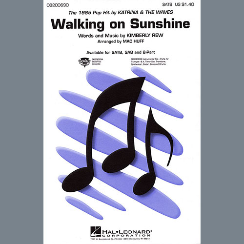 Katrina & The Waves Walking on Sunshine (arr. Mac Huff) - Bb Tenor Saxophone profile picture