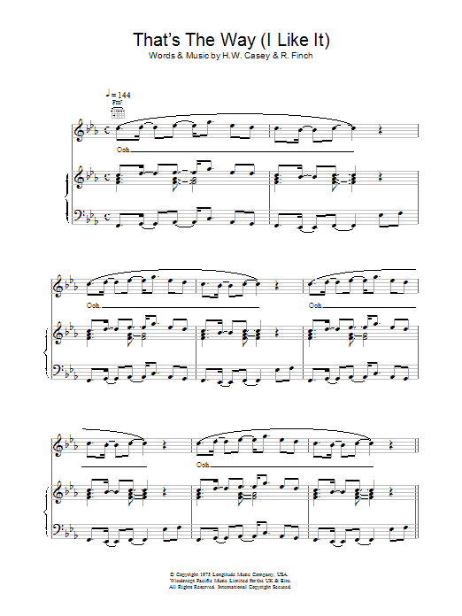 KC and The Sunshine Band That's The Way (I Like It) sheet music preview music notes and score for Guitar Tab including 4 page(s)