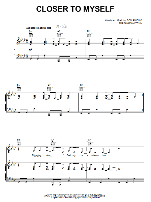 Kendall Payne Closer To Myself sheet music notes and chords