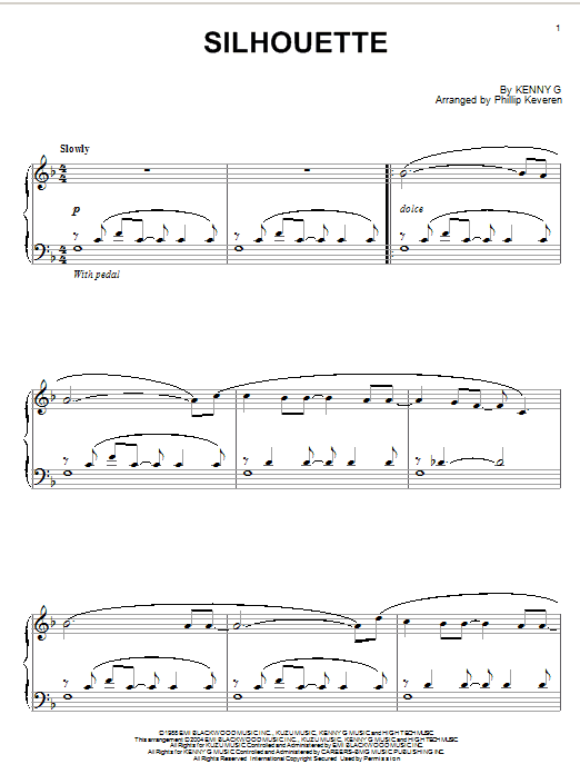 Download Kenny G 'Silhouette' Digital Sheet Music Notes & Chords and start playing in minutes