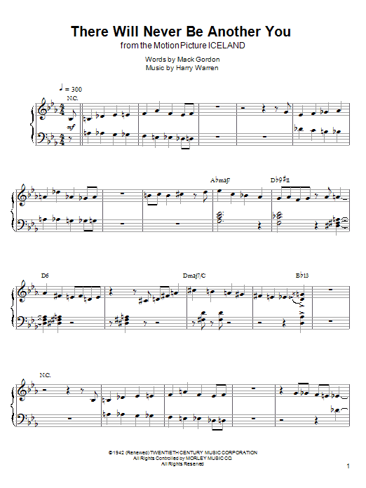 Download Kenny Werner 'There Will Never Be Another You' Digital Sheet Music Notes & Chords and start playing in minutes