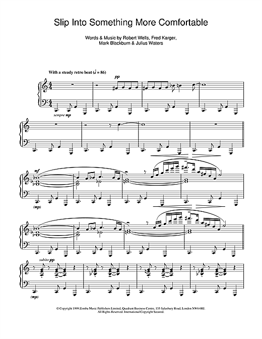 Kinobe Slip Into Something More Comfortable sheet music notes and chords