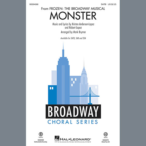 Kristen Anderson-Lopez & Robert Lopez Monster (from Frozen The Broadway Musical) (arr. Mark Brymer) - Trumpet 2 profile picture