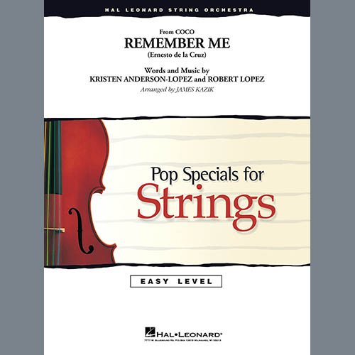 Kristen Anderson-Lopez & Robert Lopez Remember Me (from Coco) (arr. James Kazik) - Conductor Score (Full Score) profile picture