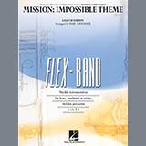 Download Lalo Schifrin Mission: Impossible Theme (arr. Paul Lavender) - Pt.3 - Eb Alto Sax/Alto Clar. Sheet Music arranged for Concert Band - printable PDF music score including 1 page(s)