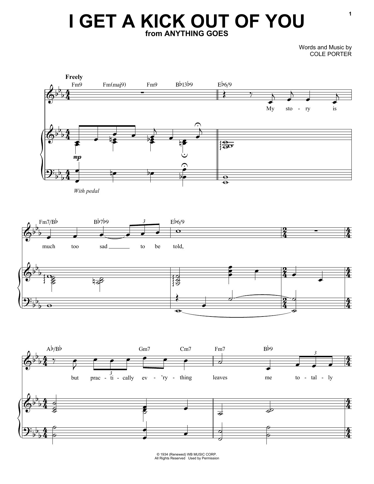 Landau Eugene Murphy Jr I Get A Kick Out Of You sheet music preview music notes and score for Piano, Vocal & Guitar (Right-Hand Melody) including 9 page(s)