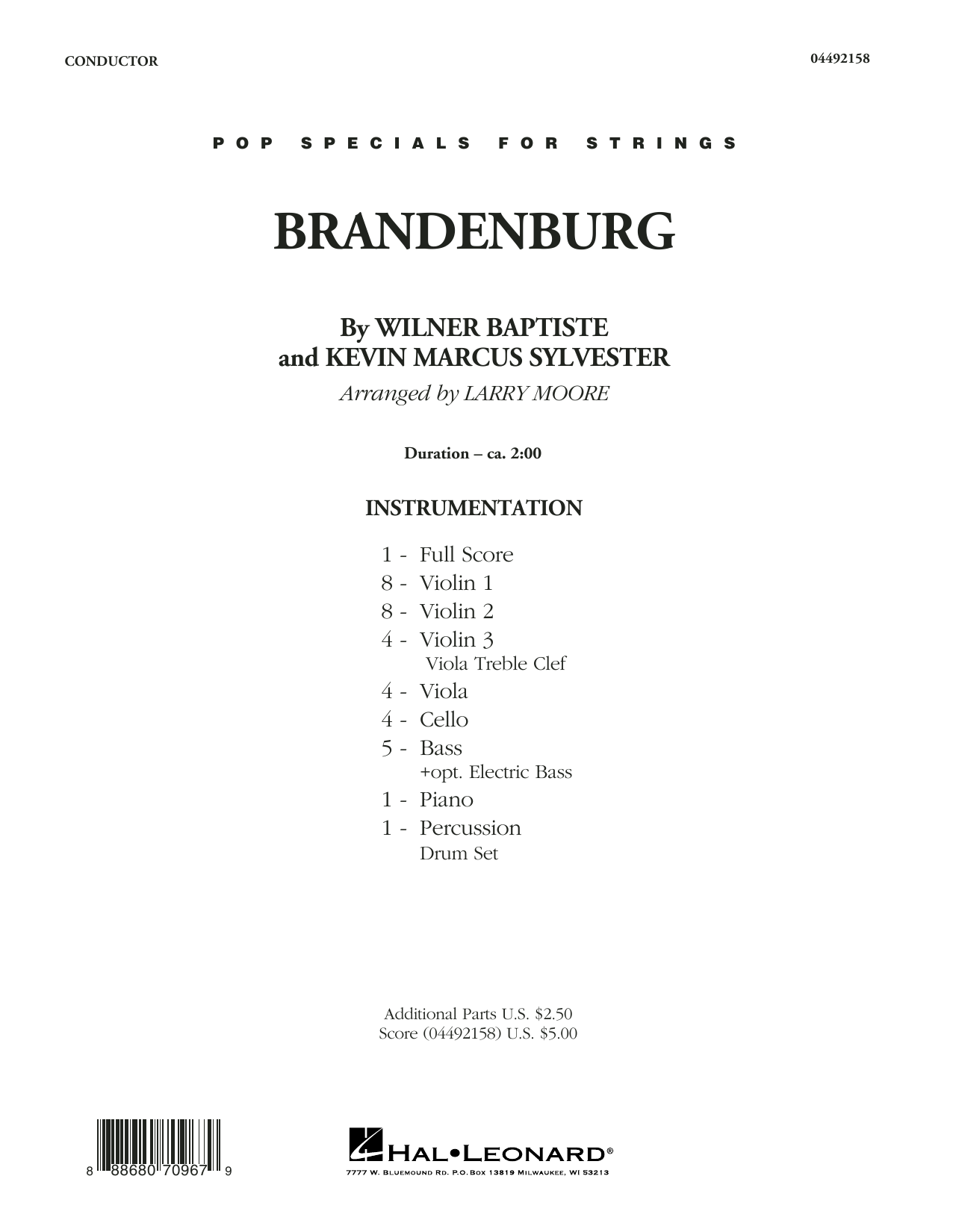 Download Larry Moore 'Brandenburg - Conductor Score (Full Score)' Digital Sheet Music Notes & Chords and start playing in minutes