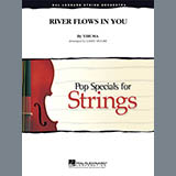 Download Larry Moore River Flows In You - Violin 1 Sheet Music arranged for Orchestra - printable PDF music score including 2 page(s)