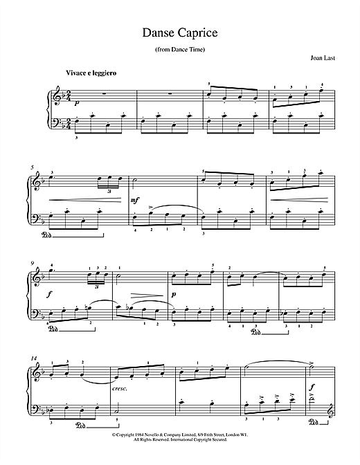 Last Danse Caprice sheet music notes and chords