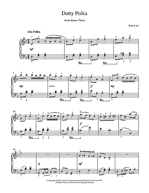 Download Last 'Dotty Polka' Digital Sheet Music Notes & Chords and start playing in minutes