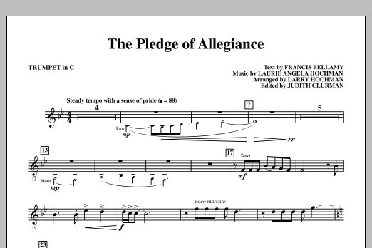 Laurie Angela Hochman The Pledge of Allegiance - C Trumpet sheet music notes and chords