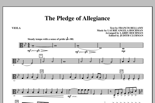 Laurie Angela Hochman The Pledge of Allegiance - Viola sheet music notes and chords