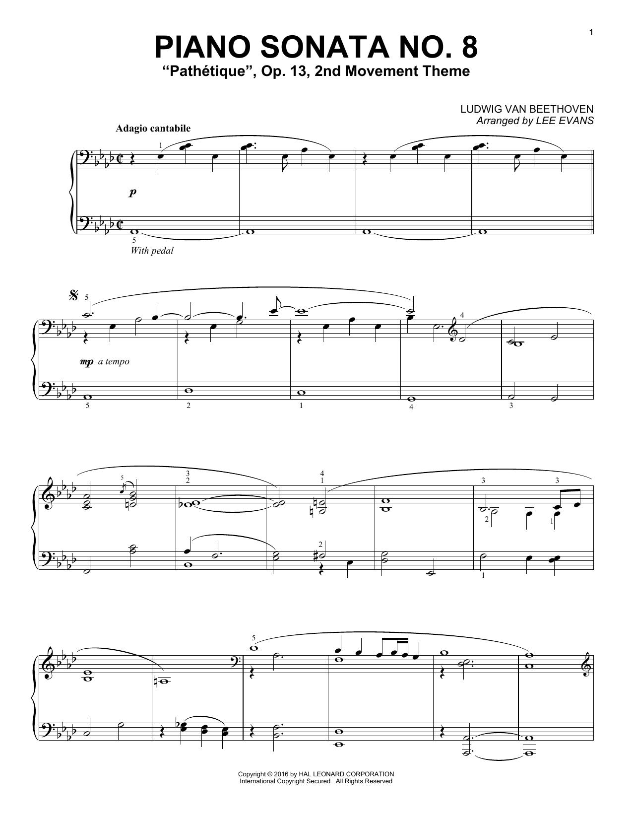 Download Lee Evans 'Piano Sonata No. 8, Op. 13 (