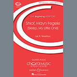 Download or print Shlof, Mayn Fegele (Sleep, My Little One) Sheet Music Notes by Lee Kesselman for Unison Choral