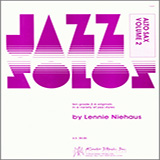 Download Lennie Niehaus Jazz Solos For Alto Sax, Volume 2 Sheet Music arranged for Woodwind Solo - printable PDF music score including 12 page(s)