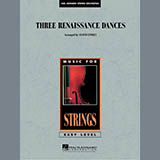 Download Lloyd Conley Three Renaissance Dances - Cello Sheet Music arranged for Orchestra - printable PDF music score including 2 page(s)