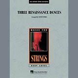 Download Lloyd Conley Three Renaissance Dances - Violin 3 (Viola Treble Clef) Sheet Music arranged for Orchestra - printable PDF music score including 2 page(s)