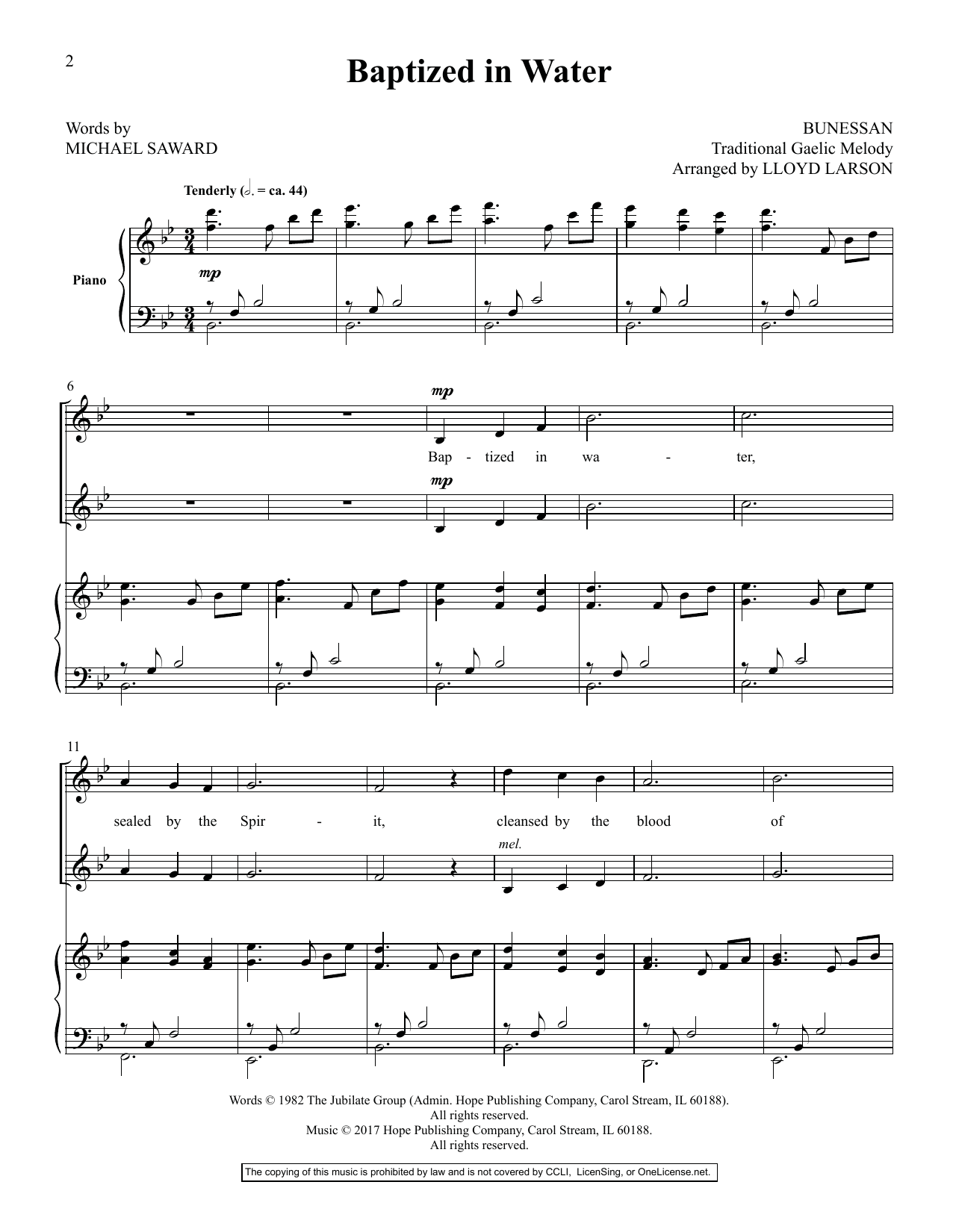 Lloyd Larson Today's Hymns & Songs For Two Voices, Vol. II sheet music preview music notes and score for Vocal Duet including 77 page(s)