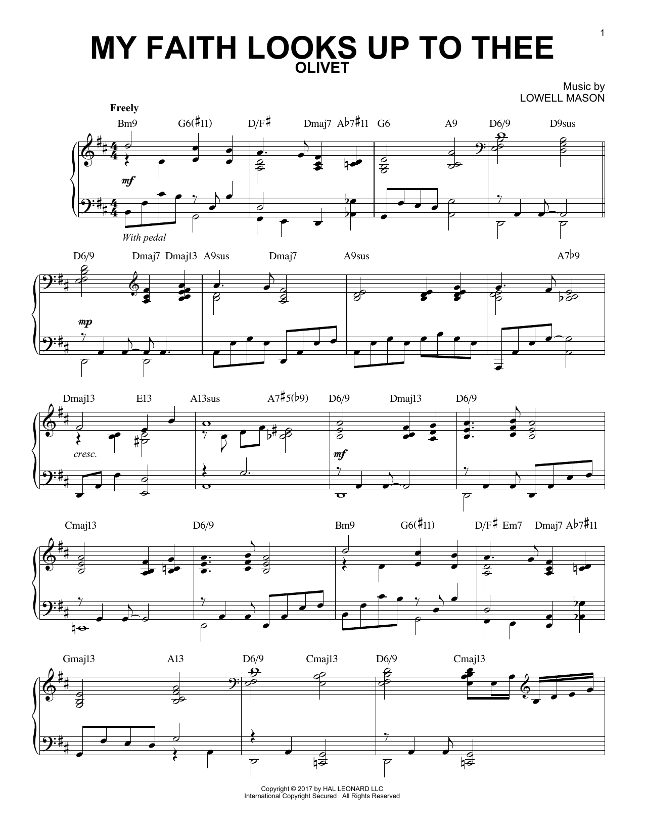 Download Lowell Mason 'My Faith Looks Up To Thee' Digital Sheet Music Notes & Chords and start playing in minutes