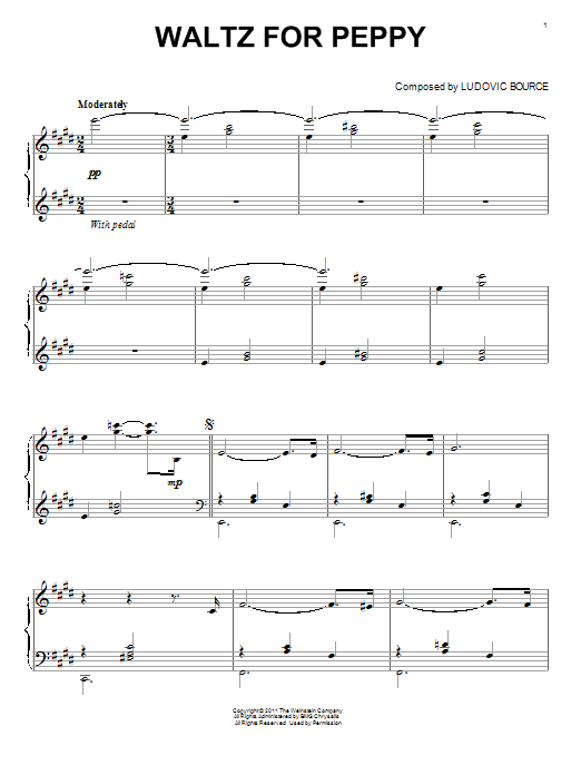 Download Ludovic Bource 'Waltz For Peppy' Digital Sheet Music Notes & Chords and start playing in minutes