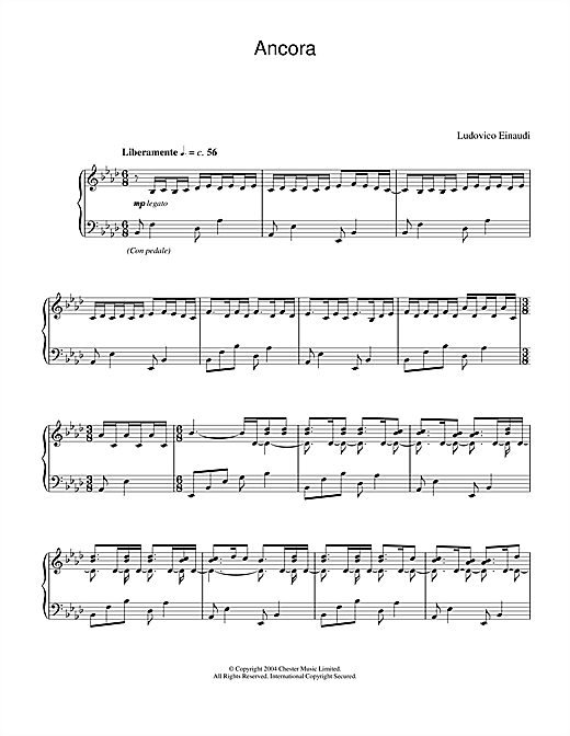 Download Ludovico Einaudi 'Ancora' Digital Sheet Music Notes & Chords and start playing in minutes