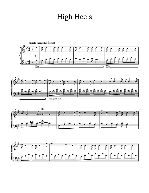 Download Ludovico Einaudi 'High Heels' Digital Sheet Music Notes & Chords and start playing in minutes