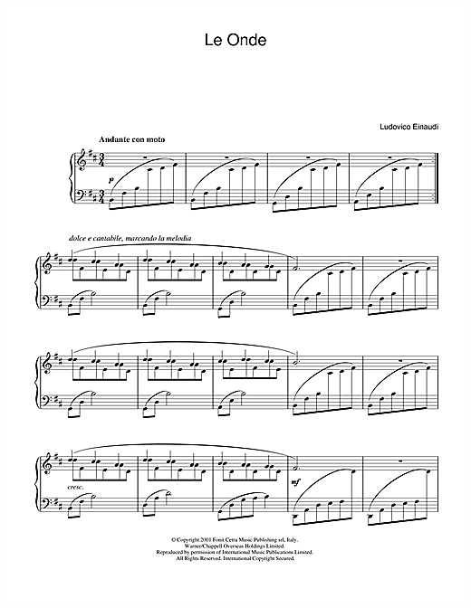 Download Ludovico Einaudi 'Le Onde' Digital Sheet Music Notes & Chords and start playing in minutes