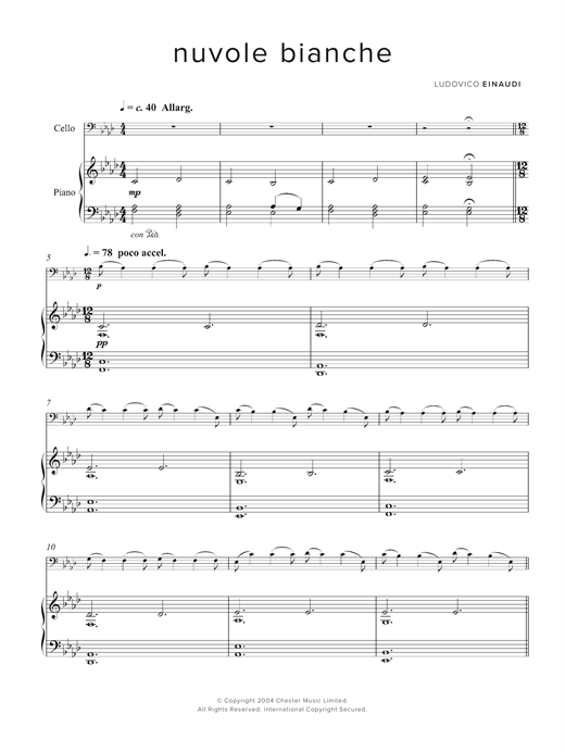 Download Ludovico Einaudi 'Nuvole Bianche' Digital Sheet Music Notes & Chords and start playing in minutes
